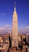Empire State Building in New York is 448 metres high