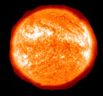 Surface of the sun is around 5500 degrees Celsius and its core is around 15 million degrees C